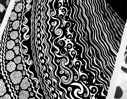LACE OF LIFE Series of ink drawings