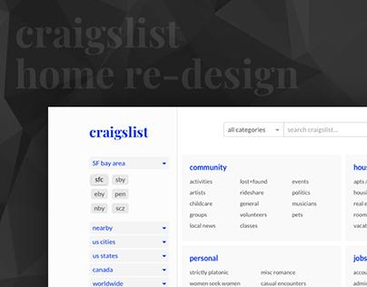 Craigslist home redesign
