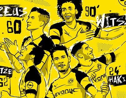 Commissioned Illustrations - Borussia Dortmund 2018/19
