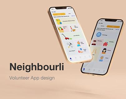 Volunteer App design