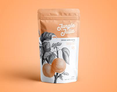 Packaging design - Jungle Julia dried fruit