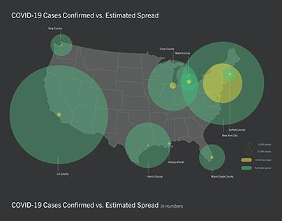Visualizing the Estimated Spread of COVID-19