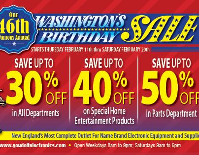YDI Washington's Birthday Sale Trifold