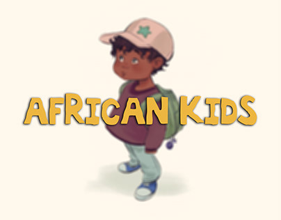 digital painting for african kids