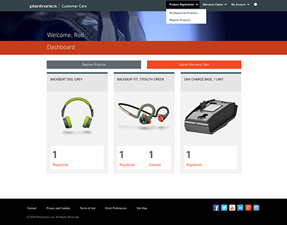 Plantronics Global Support Assistance website