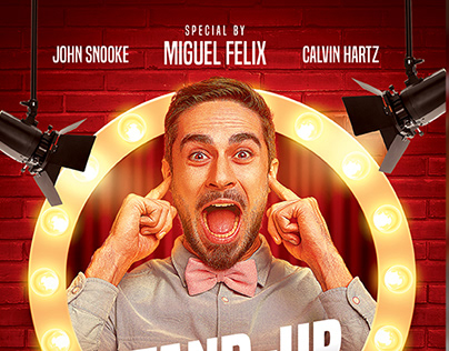 Stand Up Comedy Flyer Template PSD