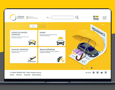 Gunay Insurance Consept web design