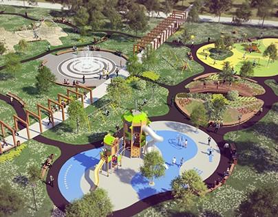 visualizations of park ins Sosnowiec