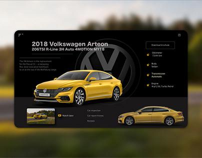 Redesign of Volkswagen Web App