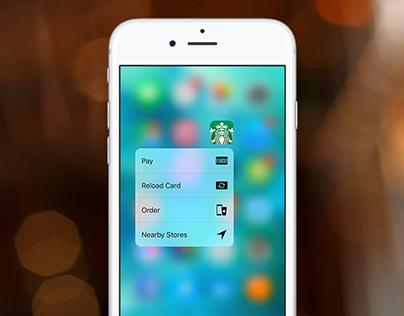 Starbucks 3D Touch