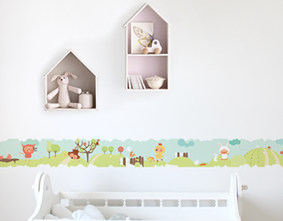 Wall Sticker for children's room - Porta Amarela