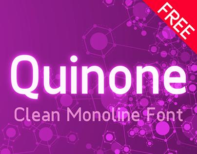 Quinone: a Clean Monoline Font