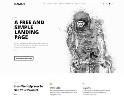Namari - Free Landing Page Template