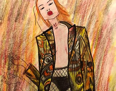 Fashion illustration for SORRY I`M NOT