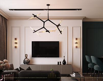 Thiết kế nội thất chung cư Skylake 08AS1 - Chị Hiền