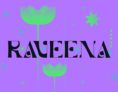 RAVEENA | Display Font