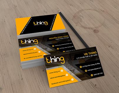 Card visit cho công ty VN Thing