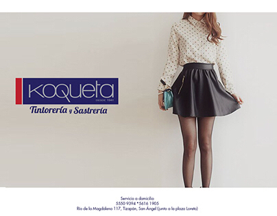 """Designs for social media of  """"Tintorería koqueta"""""""