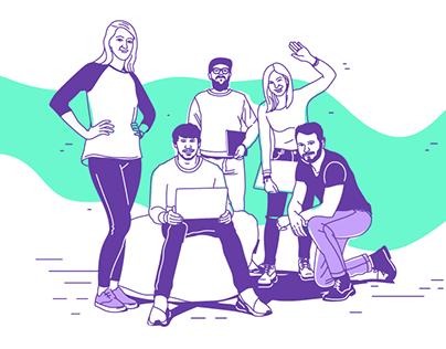 - AVAST - team illustrations