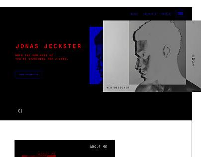 Landing page for web-designer