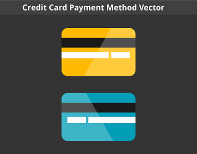 Credit Card Payment Method Vector Template Download
