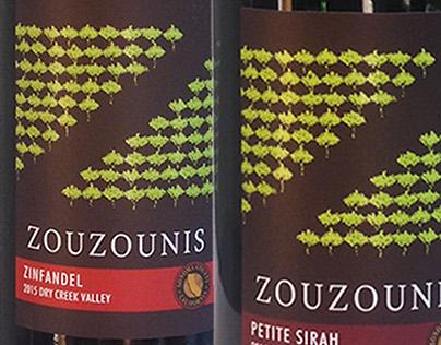 Zouzounis wine packaging