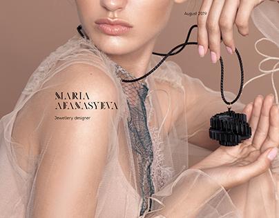 Redesign of Afanasyeva Maria's website