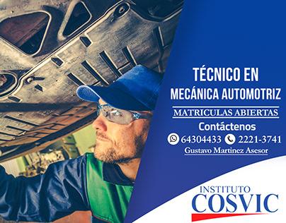 Publicidad Instituto Cosvic 2018