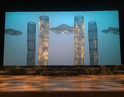 Set design for Harry Partch's Oedipus at the UW