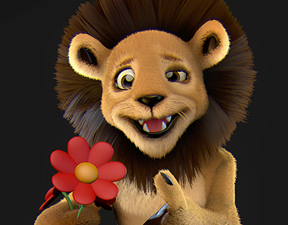 Toon Lion - Conceptsketch to 3D