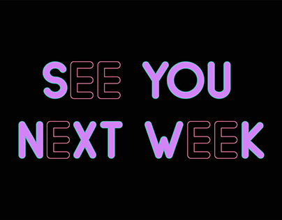 See You Next Week Art Direction