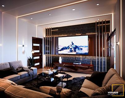 Cinema Room & Cozy Living , In El-Mahallah El-Kubra.