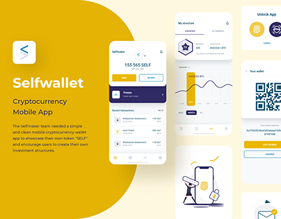 Cryptocurrency Mobile App - UI/UX Design