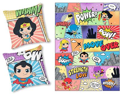 Bed Linen . DC Superheroes