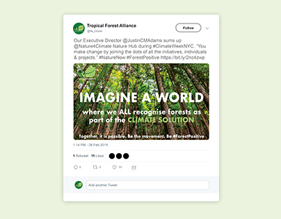 #Imagineaworld Campaign Climate Week 2019