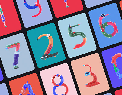 Characters Number Design