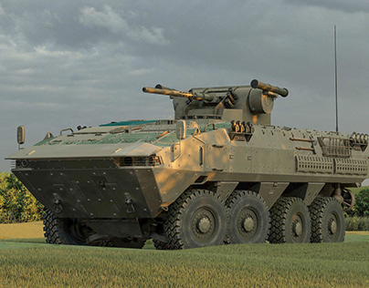 photo-realistic render the concept APC