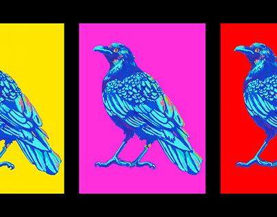 Surreal Crow Triptych