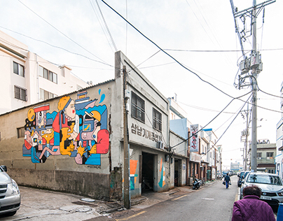Street art in Busan, Korea