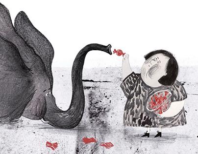 Silent book illustration