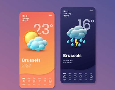 Weather app (Daily UI Challenge)