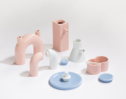 Geometric tableware