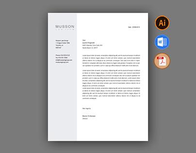 Letterhead Template For Fiverr.