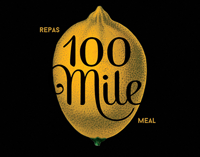 100 Mile Meal Poster
