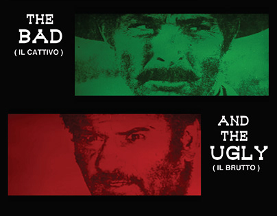 Film poster redesign: The Good, The Bad, and The Ugly