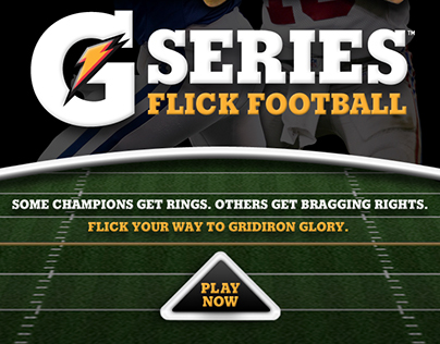 Gatorade: iPad Flick Football