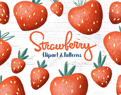 Strawberry Seamless Pattern Collection