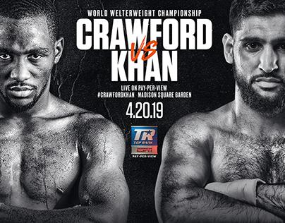 Crawford v Khan ESPN/Top Rank Branding