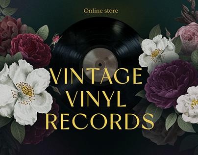 Online store for vintage vinyl records