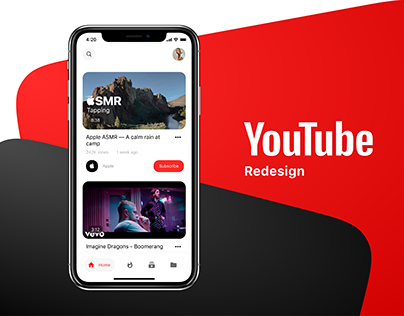 YouTube redesign - mobile app